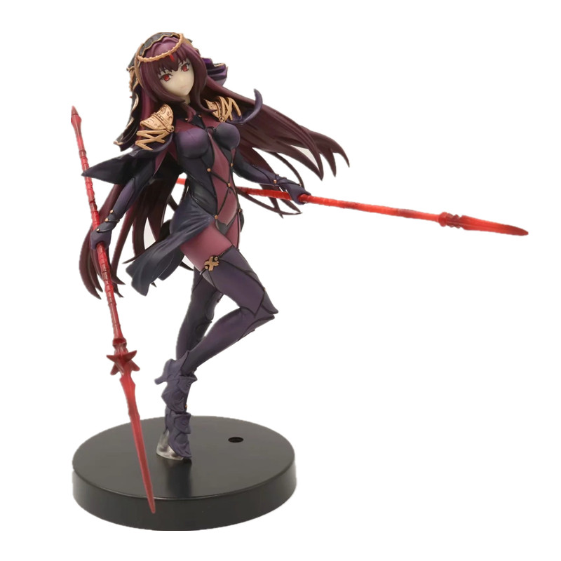 20cm Anime Fate Grand Order Lancer Scathach Action Figure PVC Toys Collection Model Doll Gift in Action Toy Figures from Toys Hobbies