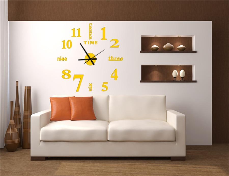 watch wall clock modern math horloge vintage wall wanduhr mirror silent sticker living room quartz klok watch decor for home  (10)
