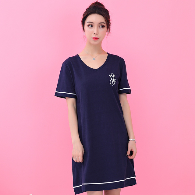 Fashion cotton nightgowns sleepshirts Fresh nightgowns for women female sleepwear teenage girl lounge plus size bathrobe onesie