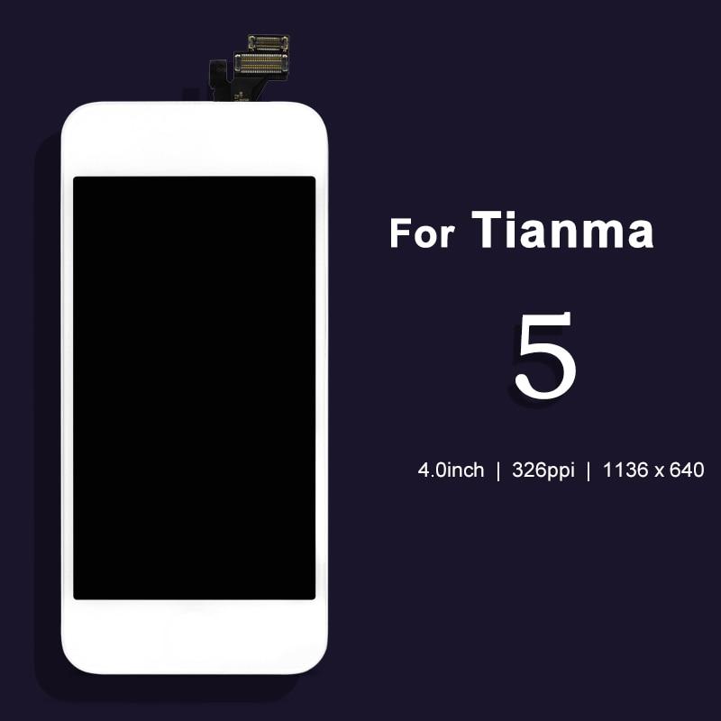 imágenes para Para tianma 10 unids para iphone 5 pantalla lcd de Pantalla Táctil Digitalizador y LCD Asamblea del Reemplazo y de Envío
