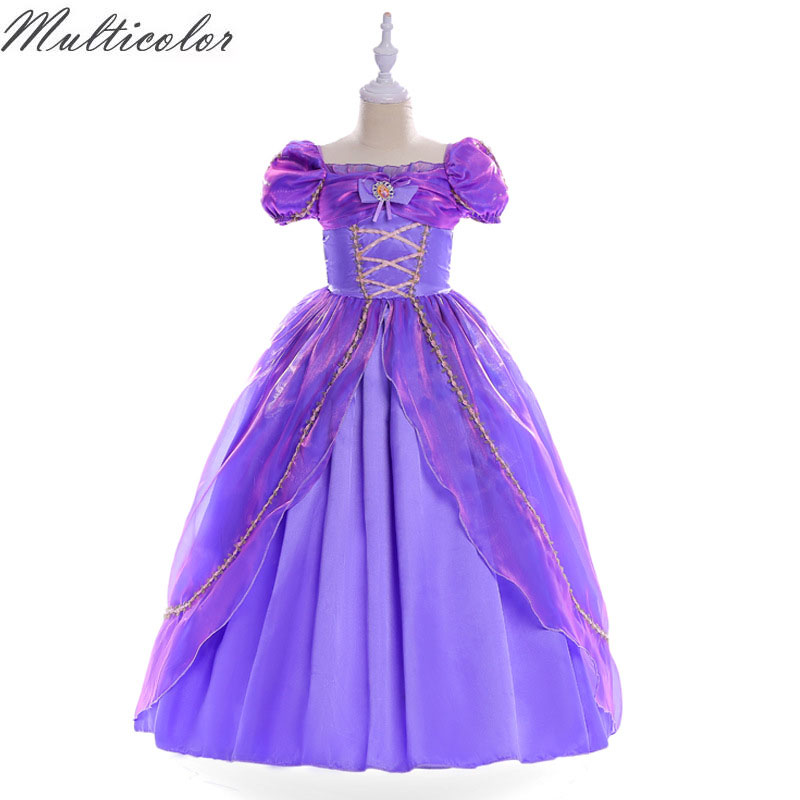 Multicolor Girls Princess Summer Dresses for girls Kids  Costume Clothing Children Cinderella Sleeping Beauty Sofia Party Dress