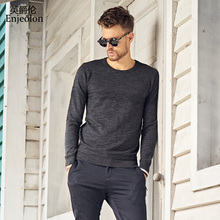 Enjeolon brand winter autumn Knitting casual pullover Sweaters man o neck male pullover Sweater black solid sweater men MY3407