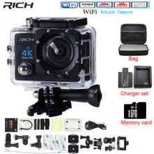 RICH Action Camera font b Camcorder b font HD 4K 14MP WIFI 1080P 2 0 inch