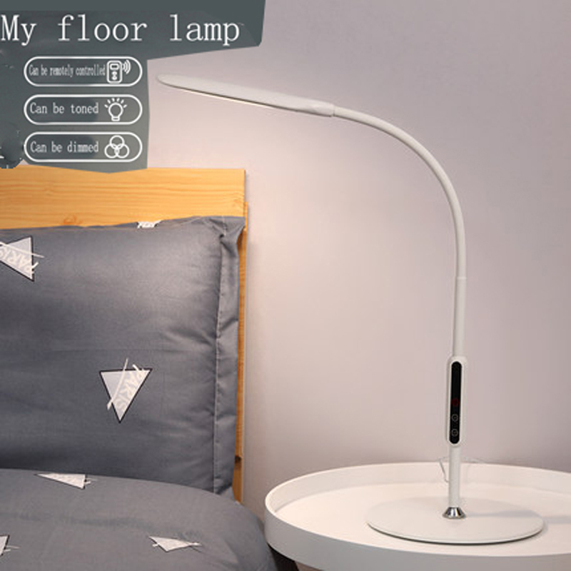 Фото LED 9W intelligent remote control bedroom bedside lamp touch five-speed dimming color table lamp delay off lights