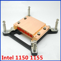 1150 1155 Heatpipe Plywood Board Clamps Copper Block 6 Holes Pluggable 6mm Diameter Copper Pipe Fanless