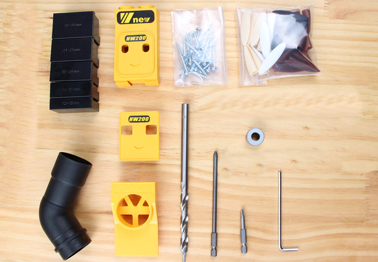 Mini Kreg Style Pocket Hole Jig Kit System For Wood Working & Joinery + Step Drill Bit & Accessories Wood Work Tool Set With Box woodworking tool pocket hole jig woodwork guide repair carpenter kit system with toggle clamp and step drilling bit kreg type
