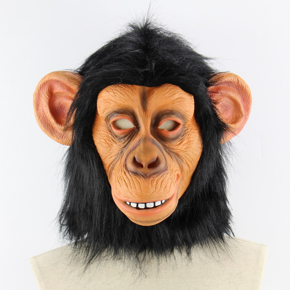 Friendly Latex Full Face Mask Buy One Get One Free Free Shipping King Kong Gorilla Big Ears Monkey Mask Funny Animal Halloween Masquerade Party Eco Costumes & Accessories