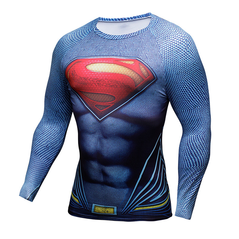 5c4c9bb4a Compression Shirt Batman VS Superman 3D Printed T shirts Men Raglan ...