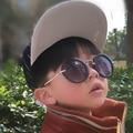Outeye niños gafas de sol redondas vintage kids eyewear uv400 niños niñas retro metal punk gafas de sol gafas de sol gafas feminino