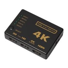 5-портовый 4 К HDMI Switcher Переключатель выбора + Пульт Дистанционного * Подключить 5 Устройства к HDTV FW1S