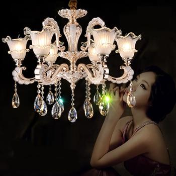 Modern chandelier lighting led crystal chandeliers Living room zinc alloy crystal lamp Hotel Restaurant gold crystal chandelier