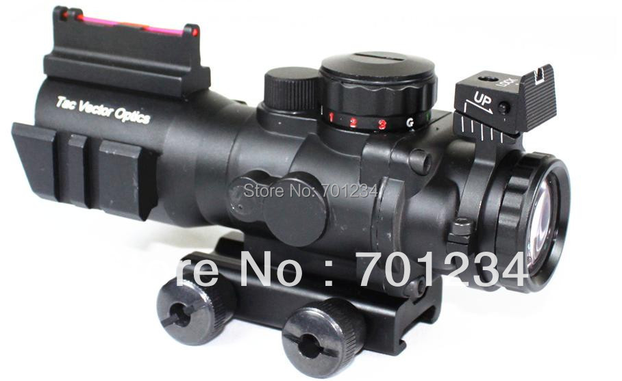 Tactical Vector Optics 4x32 Compact Rifle Scope Weapon ACOG .223 Gun Sight 3-Colour Illuminated 2 Options Reticle Free Shipping original authentic ar optics 223 3 9x40mm seismic sight rifle scope with free mounts