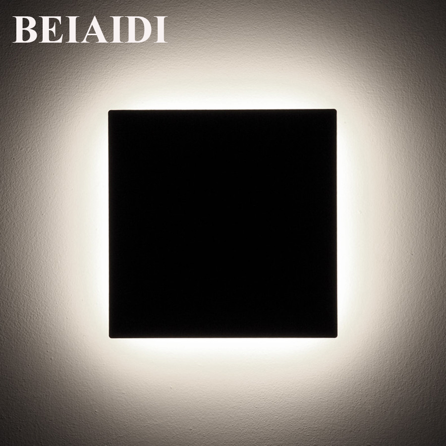 BEIAIDI Outdoor LED Porch Wall lamps Waterproof Aluminum Nordic Porch Light Square Garden Balcony Aisle Corridor Wall Sconces modern aluminum balcony patio wall lights led wall light waterproof outdoor garden porch wall sconces indoor wall lamps bl05