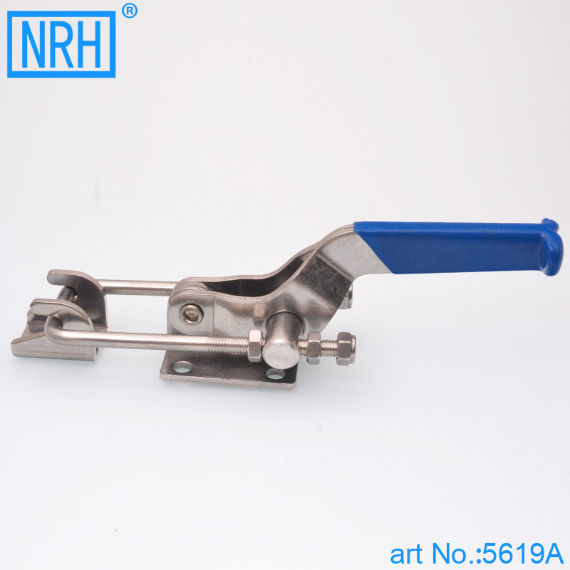 NRH 5619A-230 SUS 304 stainless steel latch clamp Wholesale price high quality adjustable latch action push pull toggle Clamp nrh 5619a 230 cold rolled steel latch clamp wholesale price high quality horizontal pull toggle clamp zinc plating