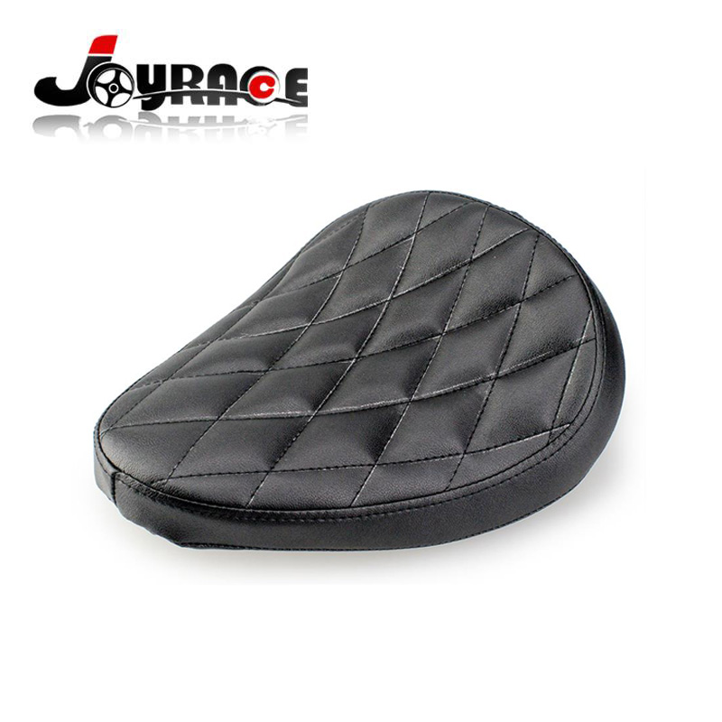Motorcycle Black Leather Diamond Solo Seat For Harley Davidson Sportster Custom Bobber Chopper стоимость