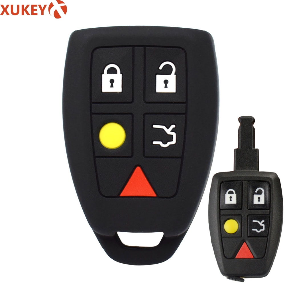 Silicone Key Case Fob For Volvo C30 C70 S40 V50 2004   2007 Keyless Remote Key Cover Shell Skin Sleeve Protector-in Key Case for Car from Automobiles & Motorcycles