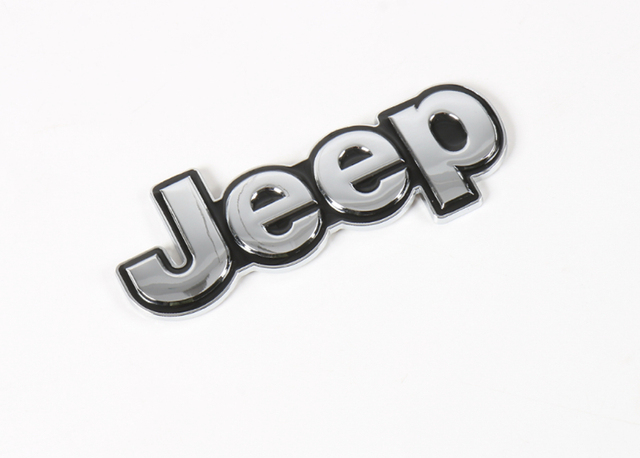 Chrome 3d metal logo sticker decal graphics for jeep wrangler cherokee renegade compass