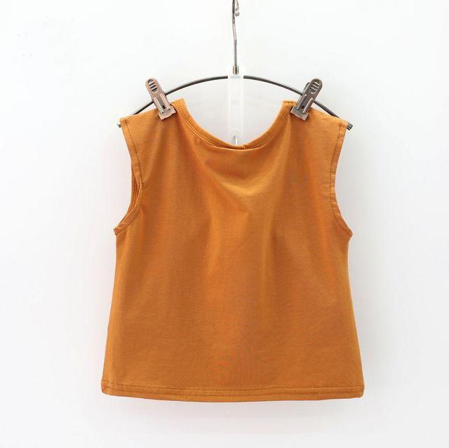 Girls' Clothes Set Summer Brown Shirt & Overall
