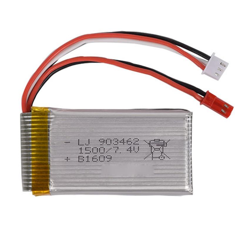 7.4 v 1500 mah Lipo Batterie V913 WL912 L959 L969 L202 K959 HJ816 FT009 FX067 rc Quadrocopter 2 s Haute puissance au lithium polymère