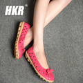 HKR 2017 spring women flats shoes breathable cutout ballet flat shoes casual loafers shoes ladies casual sandals shoes 924
