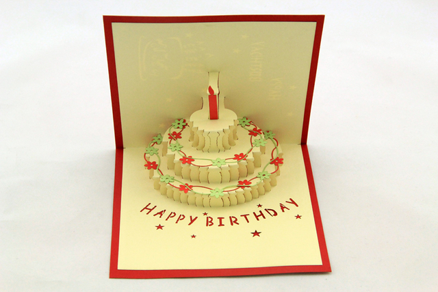 Business cards happy birthday greeting card 10pcs 3d cake candle business cards happy birthday greeting card 10pcs 3d cake candle flower cartoon exquisite hollow out best colourmoves