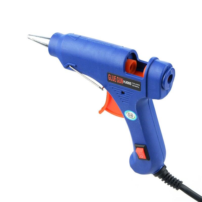 10 Вт/20 Вт 100 В-240 В EU/us Hot Plug Blue расплава Пистолеты для склеивания Клей-карандаш промышленные мини Пистолеты thermo клеевым пистолетом тепла Температура инструмент