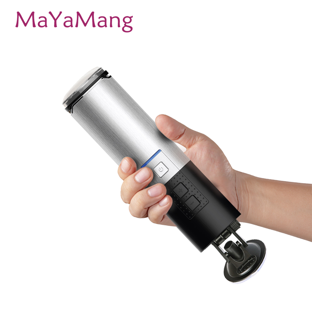 LETEN Piston USB Charged Retractable Electric Male Fully Automatic Masturbator Hands Free Thrust Adult Sex Machine Toy for Men