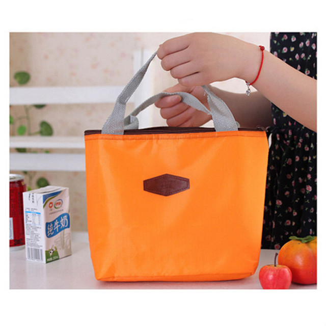 Fashion Insulated Tinfoil Aluminum Lunch Bag Cooler Thermal Picnic Food Bag Waterproof Travel Handbag Office Student Portable 1