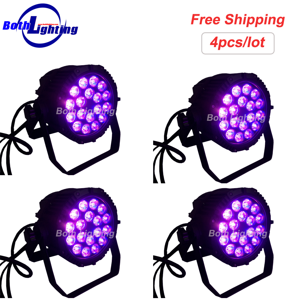 IP65 Waterproof 18*18W 6 IN 1 LED PAR Can Stage Lighting Wash Light Wireless DMX Light for Disco DJ Music Party Club Decoration