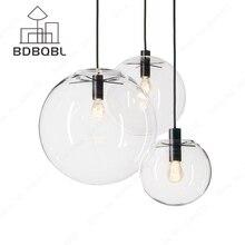 BDBQBL Nordic Pendant Lights Globe Chrome Lamp Glass Ball Pendant Lamp Lustre Suspension Kitchen Light Fixture E27 Home Lighting недорого