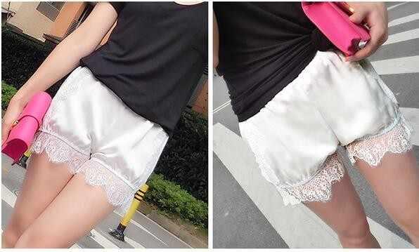 Koronki krótkie kobiety elastyczny pas oddychający Skinny bez szwu miękkie dla Booty krótkie letnie