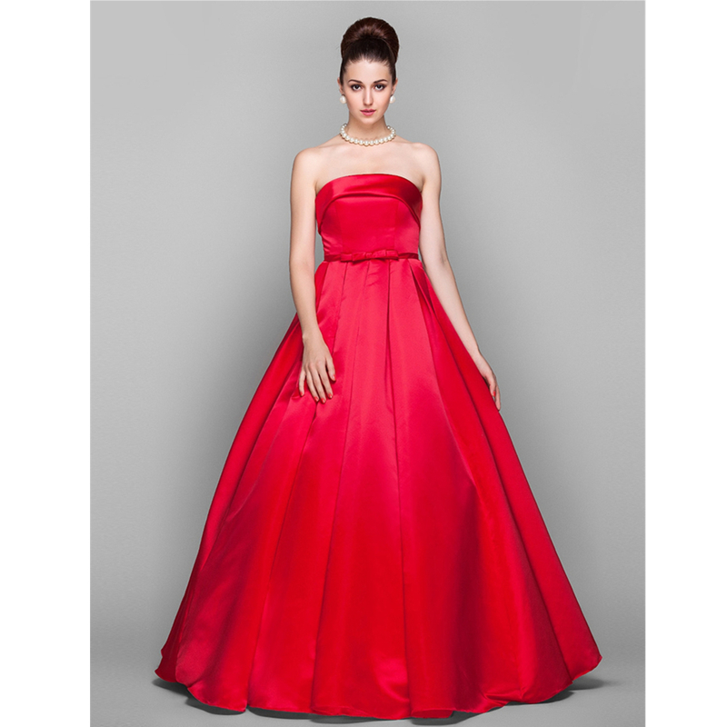 TS Couture Ball Gown Strapless Floor Length Prom Formal Evening ...