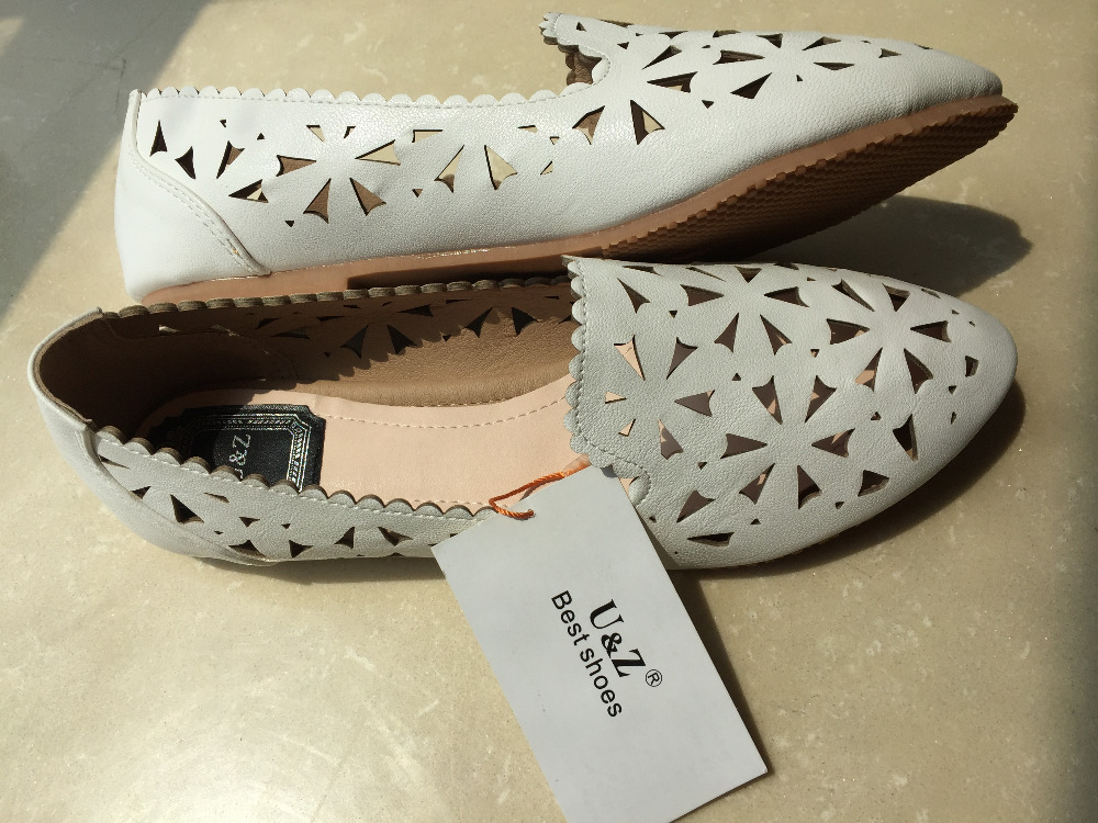 b895f4c5707 Big size US10.5 flower pattern hollow out flats Women loafers ...