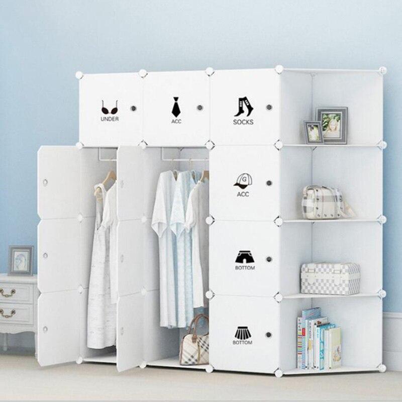 2019 Clothes Storage Furniture Wardrobe DIY Non-woven Fold Portable Storage Cabinet Bedroom Furniture Wardrobe Bedroom Organizer