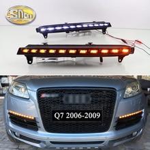 SNCN 2PCS LED Daytime Running Light For Audi Q7 2006 2007 2008 2009 Yellow Turn Signal