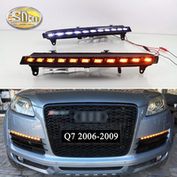 SNCN 2PCS LED Daytime Running Light For Audi Q7 2006 2007 2008 2009 Yellow Turn Signal Function 12V Car DRL Fog Lamp Decoration