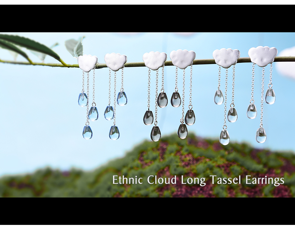 HTB1MeFsAf9TBuNjy1zbq6xpepXaG - Lotus Fun Real 925 Sterling Silver Natural Crystal Gems Fine Jewelry Ethnic Cloud Long Tassel Drop Earrings for Women Brincos
