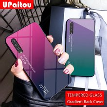 UPaitou Glass Case for Samsung Galaxy A70 A50 A40 A30 A20 A10 A2 Core M30 M20 M10 Case Tempered Glass Cover for Galaxy A70 Case(China)