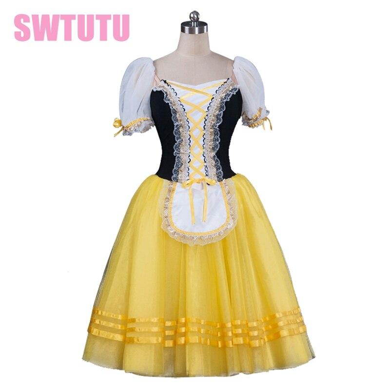 girls yellow romantic ballet tutu dress giselle Ballet Tutu dress,tutu dress for women,ballerina dress kids BT8904