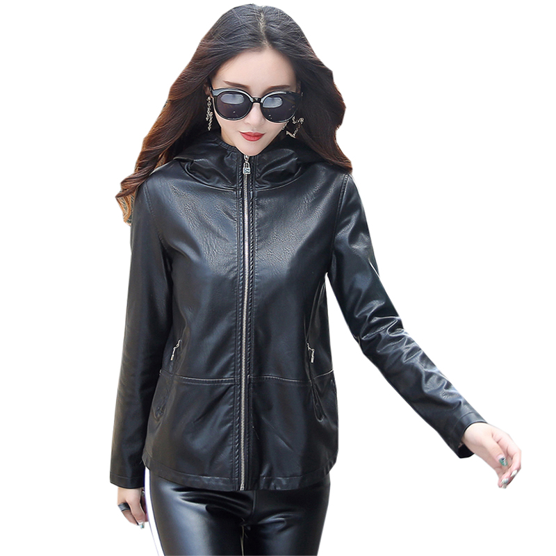 Fashion Women's Motorcycle   Leather   Jackets Spring Autumn Casual   Leather   Jacket Female   Leather   Coat Outerwear Jackets FP1503