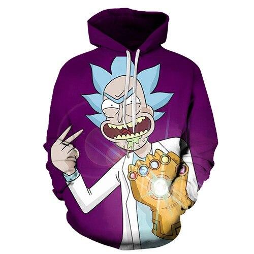 Rick and Morty 3D Print Cartoon Galaxy Hoodies Sweater Jumper Pants Tracksuit