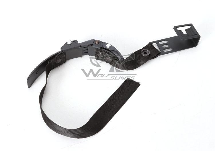 NVG очки ночного видения шлем Крепление ремень тактический шлем кепки аксессуары Airsoft Wargame шлем аксессуары - Цвет: Black