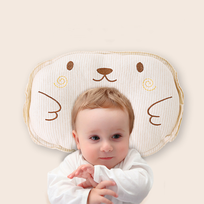 Mambobaby Cotton Baby Pillow Cartoon Prevent Flat Newborn Cushion Support Head Sleep Positioner Shaping Pillow Baby Room Decor