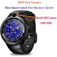 2019 новые для мужчин Смарт часы gps 4G 3g г 2 г вызова двойной HD камера 5MP + 5MP Часы сердечного ритма наручные карта pk amazfit bip smartwatch