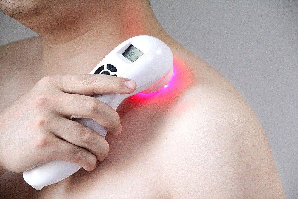 De poche faible niveau thérapie au laser dispositif matériel de physiothérapie lllt pour la douleur du corps soulager laser traitement par la lumière Rechargeable CE