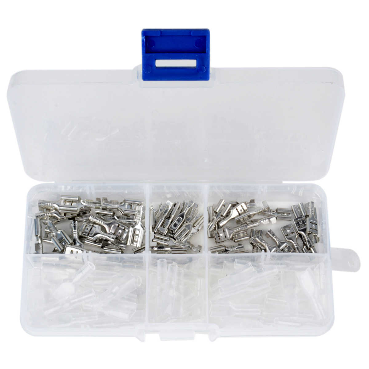 120pcs/Set 2.8mm 4.8mm 6.3mm Female Spade Connectors High Quality Crimp Terminals with Insulating Sleeves