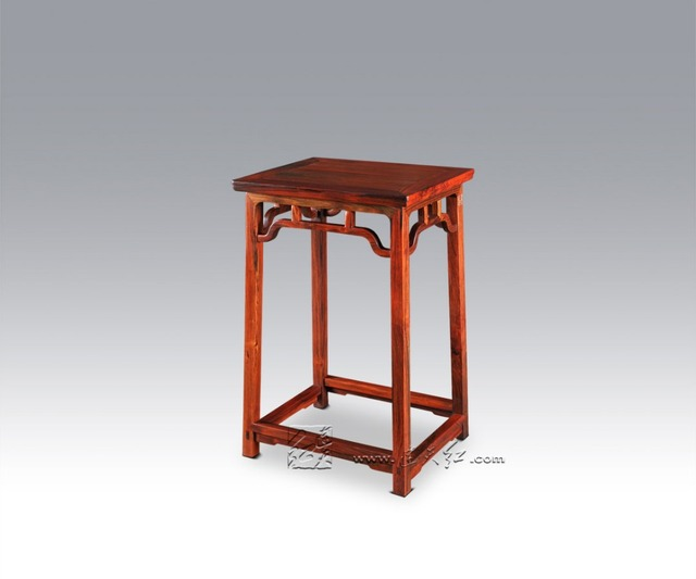 Rosewood Tea Table Living Room Laptop Notebook Desk Luxurious Enbroidery Bar Small Dining Teapoy Stand