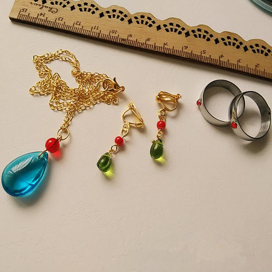 Anime Howl's Moving Castle Howl Cosplay Costumes Necklace Earring Ring Handmade