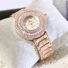 Ladies Watch No Digital Rhinestone Dial Watch High-end Bracelet Dial with Rhinestone Strap Women's Watch Fashion & Casual все цены