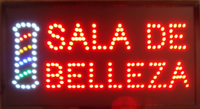CHENXI Special Offer Hot Sale Graphics 15mm indoor 19X19 Inch SALA DE BELLEZA/Beauty salon shop/barber sign of led
